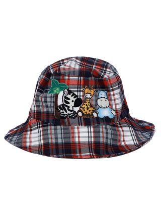 Chapéu Infantil para Bebê Menino - Azul/vermelho