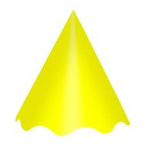 Chapéu Liso Amarelo C/10 - Kid Art