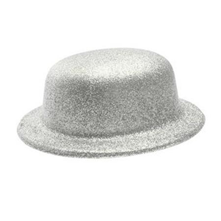Chapéu Plástico Coquinho com Glitter Prata - Unidade