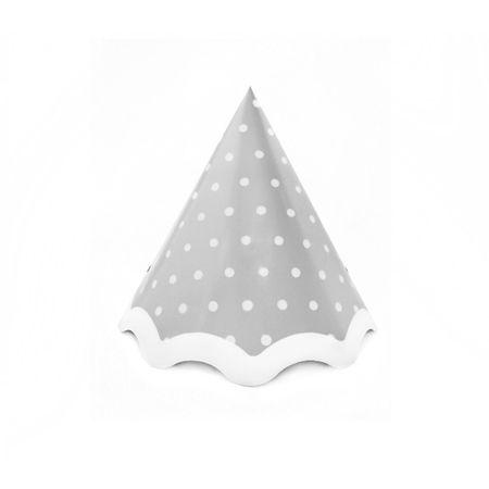 Chapéu Prata Poá Branco - 10 Unidades