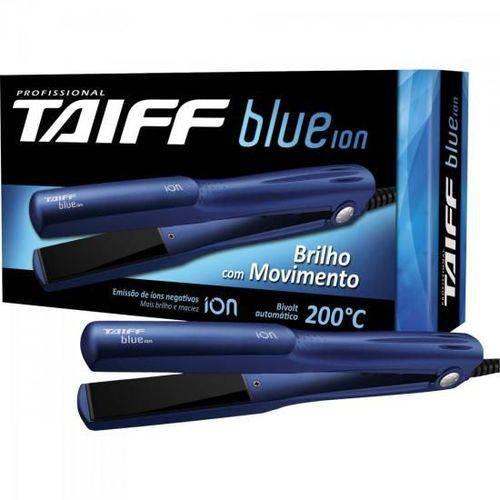 Chapinha Prancha Alisadora de Ceramica Blue Ion Azul Taiff