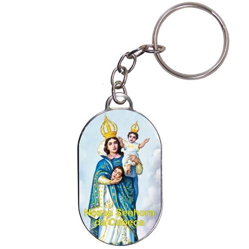 Chaveiro Chapinha - Nossa Senhora da Cabeça | SJO Artigos Religiosos