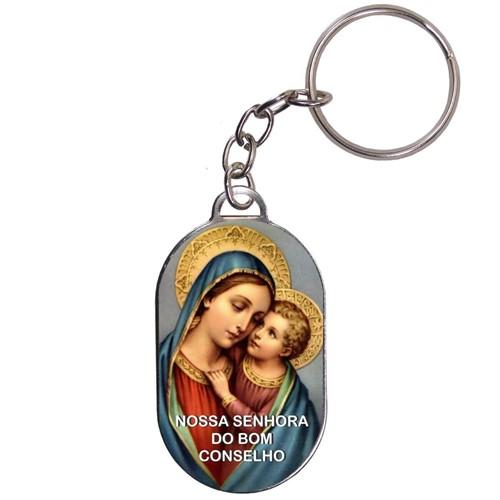 Chaveiro Chapinha - Nossa Senhora do Bom Conselho | SJO Artigos Religiosos