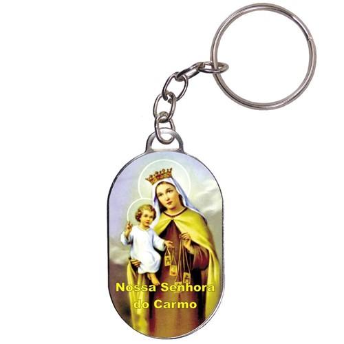 Chaveiro Chapinha - Nossa Senhora do Carmo   SJO Artigos Religiosos