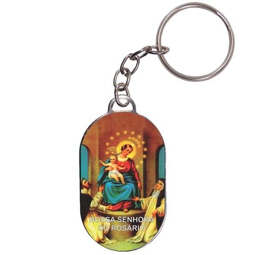 Chaveiro Chapinha - Nossa Senhora do Rosário | SJO Artigos Religiosos