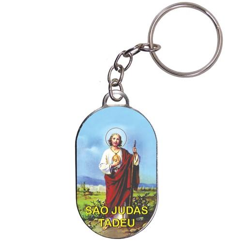 Chaveiro Chapinha - São Judas Tadeu - Mod. 02 | SJO Artigos Religiosos