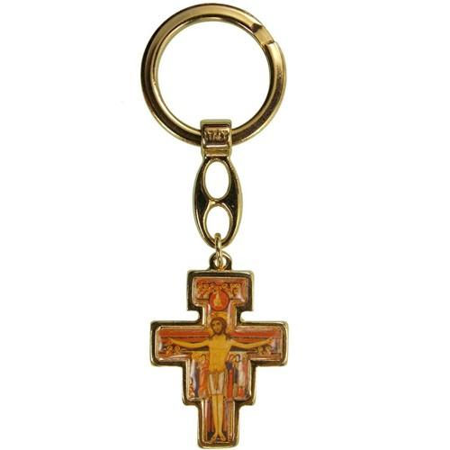 Chaveiro Cruz de São Damião   SJO Artigos Religiosos
