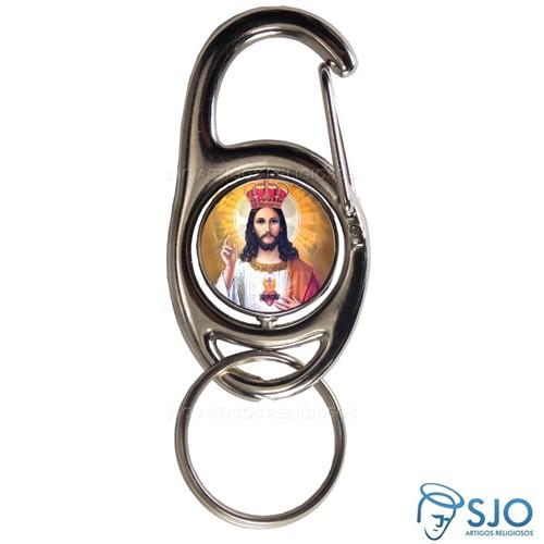 Chaveiro Mosquetão Giratório Cristo Rei | SJO Artigos Religiosos
