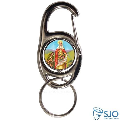 Chaveiro Mosquetão Giratório Santa Isabel | SJO Artigos Religiosos