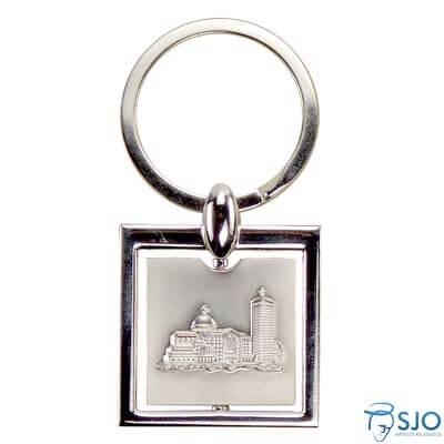 Chaveiro Prata com a Imagem da Basílica | SJO Artigos Religiosos