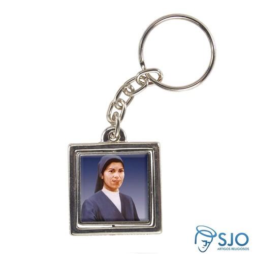 Chaveiro Quadrado Giratório da Beata Irmã Lindalva | SJO Artigos Religiosos