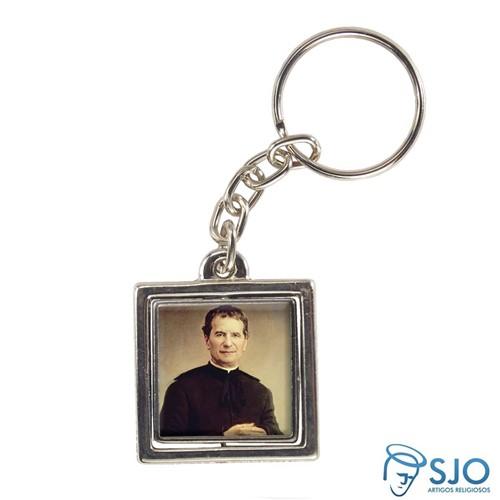 Chaveiro Quadrado Giratório de Dom Bosco | SJO Artigos Religiosos