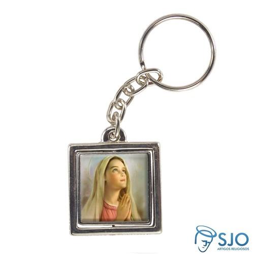 Chaveiro Quadrado Giratório de Nossa Senhora da Anunciação | SJO Artigos Religiosos