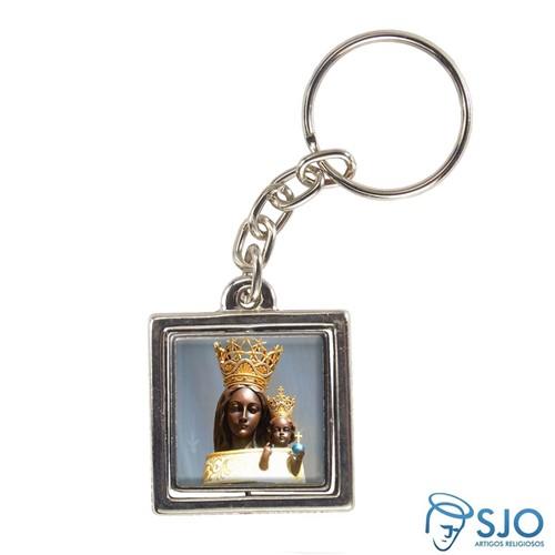 Chaveiro Quadrado Giratório de Nossa Senhora do Loreto | SJO Artigos Religiosos