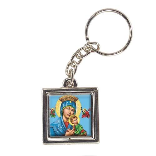 Chaveiro Quadrado Giratório de Nossa Senhora do Perpétuo Socorro | SJO Artigos Religiosos