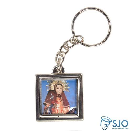 Chaveiro Quadrado Giratório de Santa Eulália | SJO Artigos Religiosos
