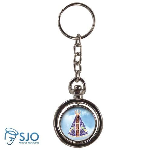 Chaveiro Redondo Giratório - Nossa Senhora Aparecida | SJO Artigos Religiosos