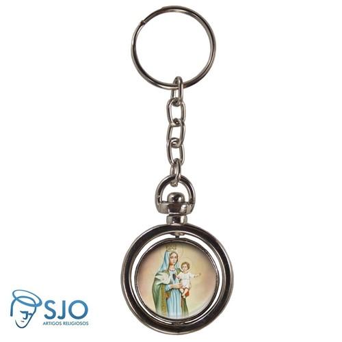 Chaveiro Redondo Giratório - Nossa Senhora da Esperança | SJO Artigos Religiosos