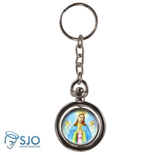 Chaveiro Redondo Giratório - Nossa Senhora da Guia | SJO Artigos Religiosos