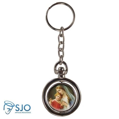 Chaveiro Redondo Giratório - Nossa Senhora do Amparo | SJO Artigos Religiosos