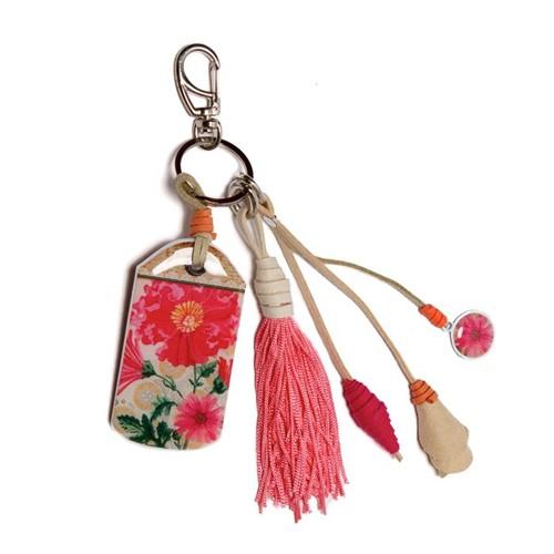Chaveiro Resinado Mensagem Tag Flor