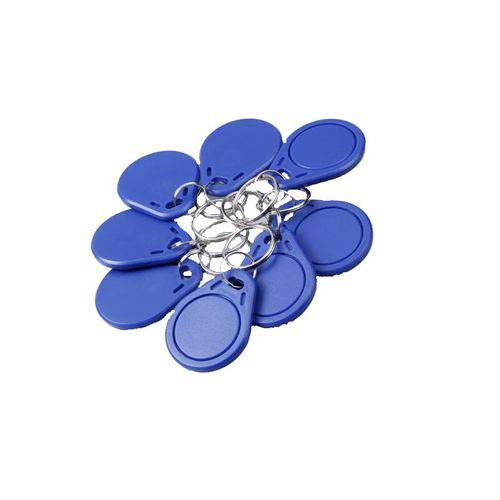 Chaveiro Tag Convencional Kit 10 Peças Azul