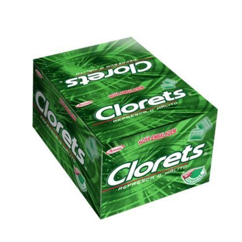 Chicletes Clorets Menta/hortela 100x1un