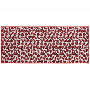 Chili Tapete 50x120 Branco/vermelho