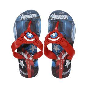 Chinelo Avengers Infantil para Menino - Azul/vermelho 23/24