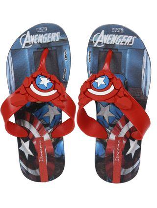 Chinelo Avengers Infantil para Menino - Azul/vermelho