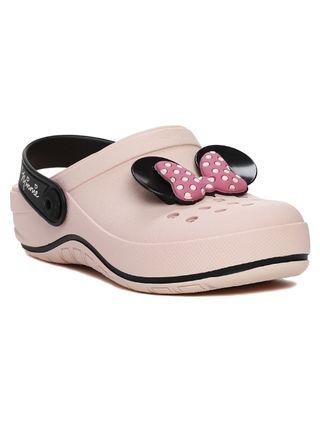 Chinelo Babuche Disney Infantil para Menina - Rosa/preto