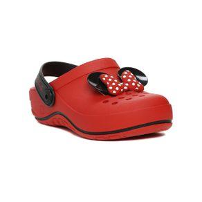 Chinelo Babuche Disney Infantil para Menina - Vermelho/preto 30