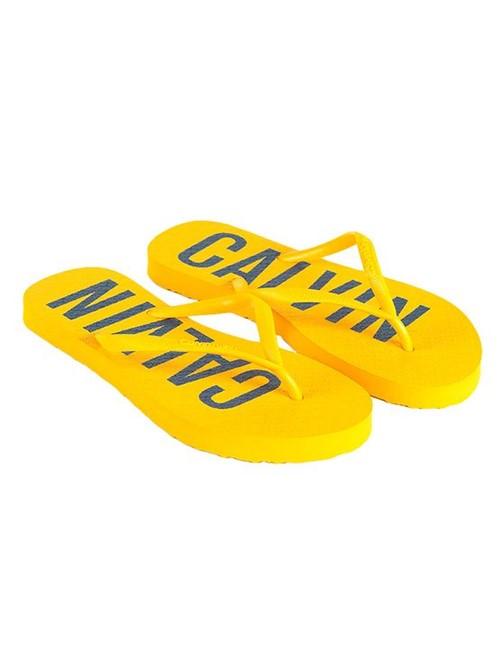 Chinelo Calvin Klein Jeans Calvin Bold Amarelo Ouro - 37/38