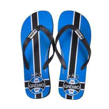 Chinelo Grêmio Azul/Branco/Preto 39/40