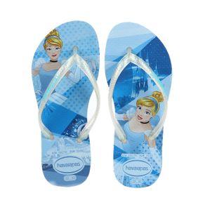 Chinelo Havaianas Kids Slim Princess Infantil para Menina - Azul 31/32