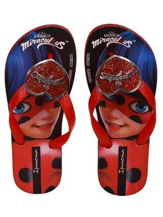 Chinelo Infantil Ladybug para Menina - Vermelho