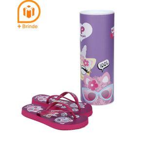 Chinelo Infantil para Menina - Rosa Pink 31/32