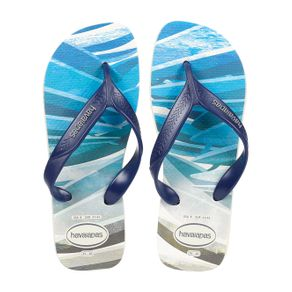Chinelo Masculino Havaianas Surf Bege/azul 37/38
