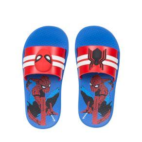 Chinelo Slide Homem-Aranha Infantil para Menino - Azul/vermelho 28