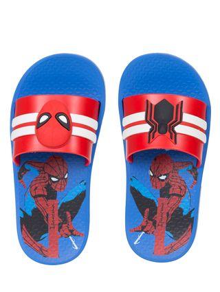 Chinelo Slide Homem-Aranha Infantil para Menino - Azul/vermelho