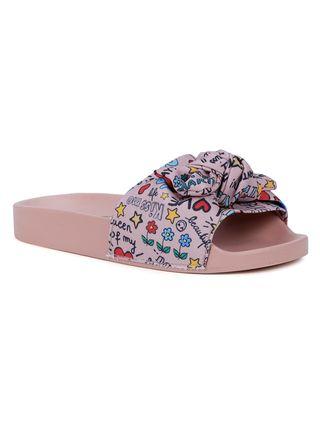 Chinelo Slide Molekinha Infantil para Menina - Rosa