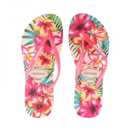 Chinelo Slim Havaianas Hibisco Rosa