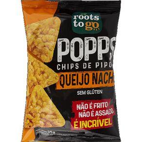 Chips Pipoca de Queijo Nacho Popps Roots To Go 35g