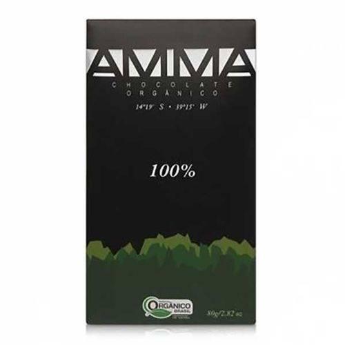 Chocolate Orgânico 100% Cacau Amma 80g