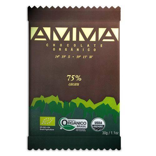Chocolate Orgânico 75% Cacau Amma - 30g