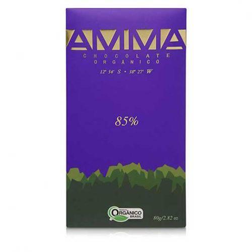 Chocolate Orgânico 85% Cacau Amma 80g