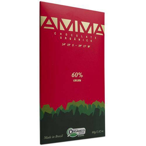 2 Chocolates Orgânicos Amma 60% Cacau 80g