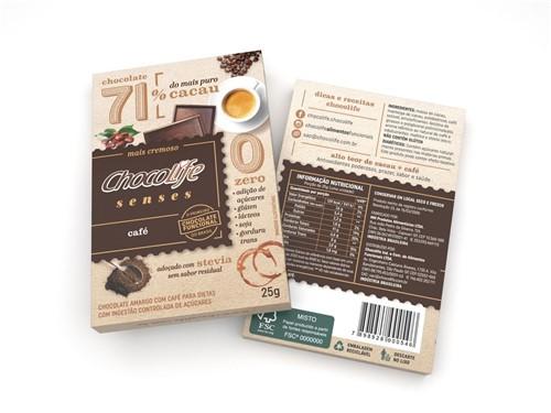 Chocolife Senses 71% Café 25g - Chocolife