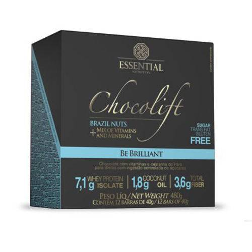 Chocolift Caixa 12Un Be Brilliant - Essential Nutrition