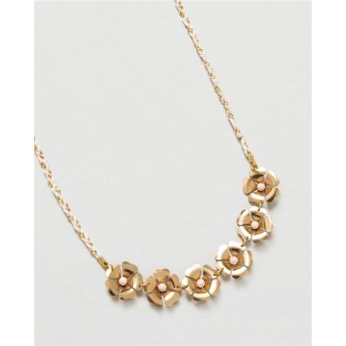Choker Flores Dourado U